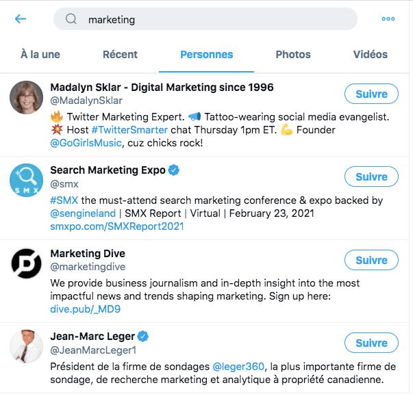 Communauté engagée Twitter d'entreprise