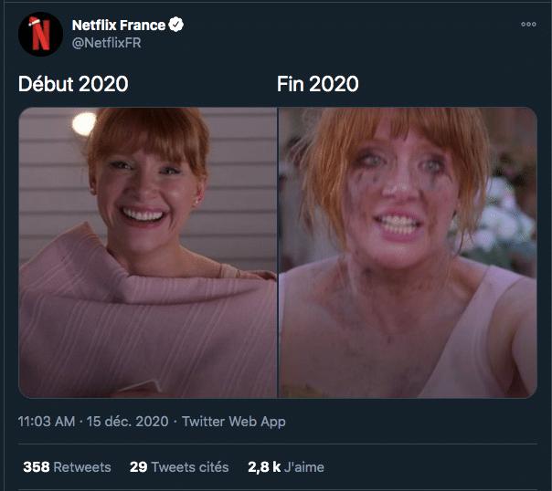 Tweet Netflix gestion de communauté