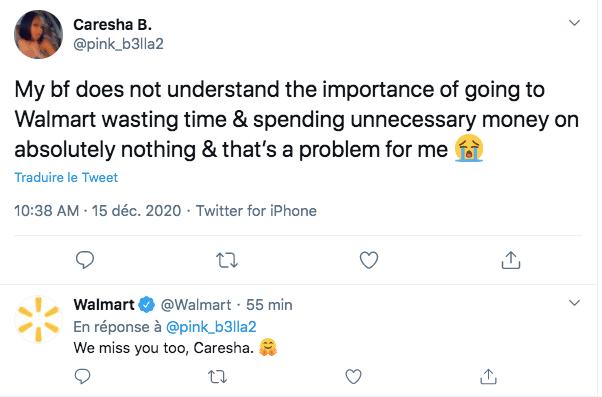 Gestion de communauté Twitter Walmart