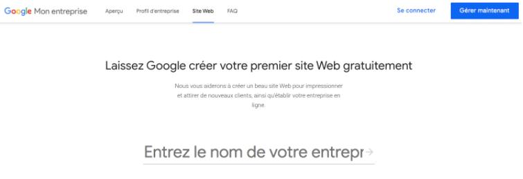 Création site internet Google Mon Entreprise