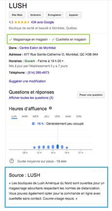 adapter fiche google my Business COVID