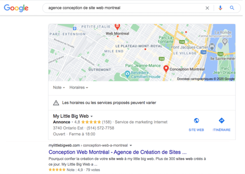 SEO Local - agence conception de sites web