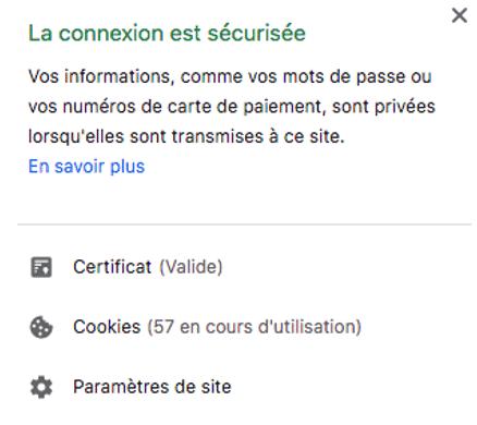 site web sécurisé