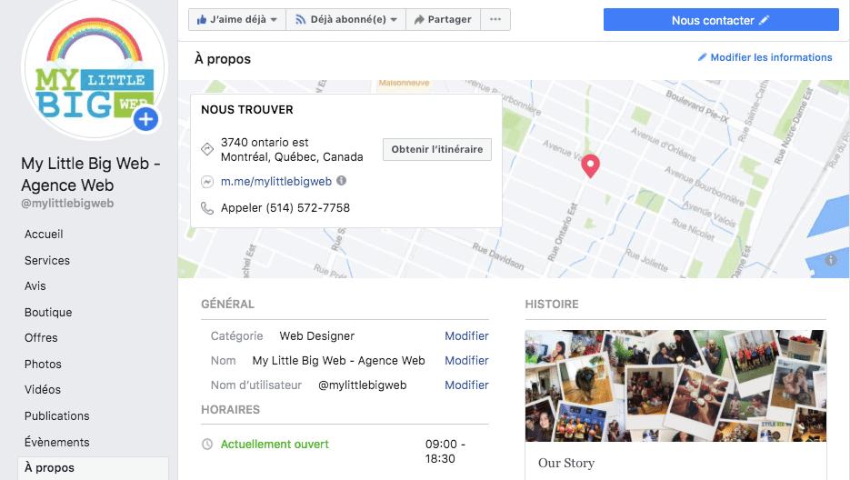 page facebook complète