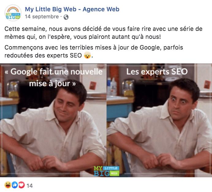 meme page facebook abonnés