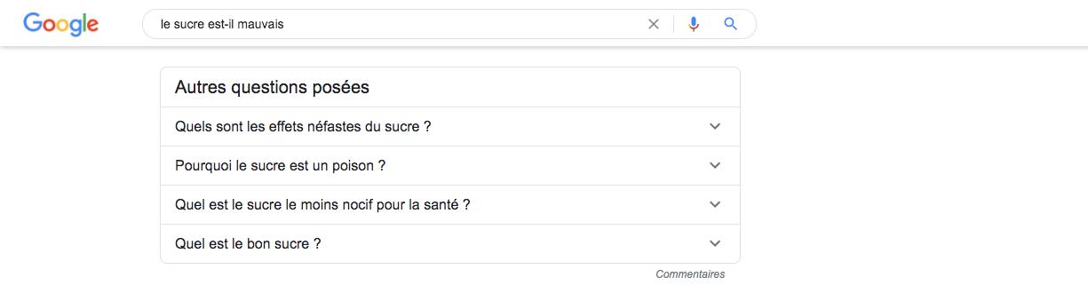 resultats de recherche Quick Answers longue traine