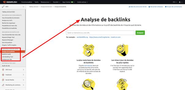 analyse backlinks semrush