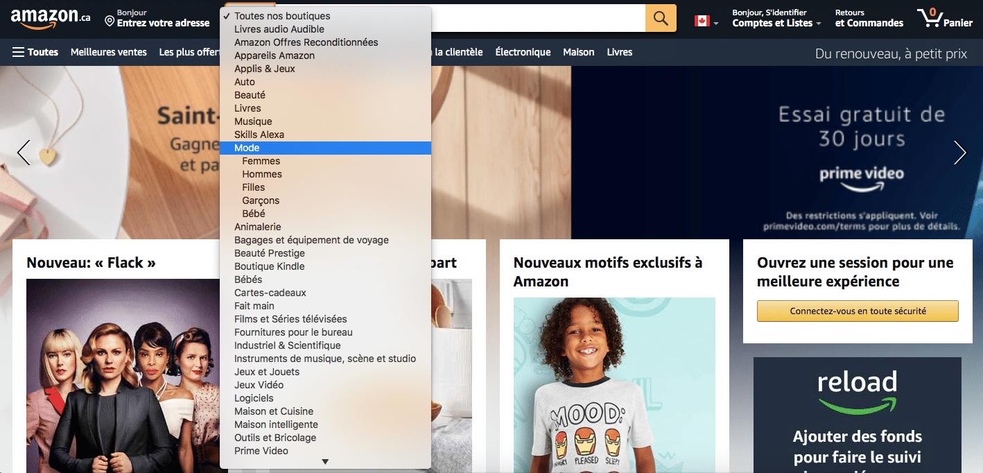 catégories et sous catégories pour maillage interne