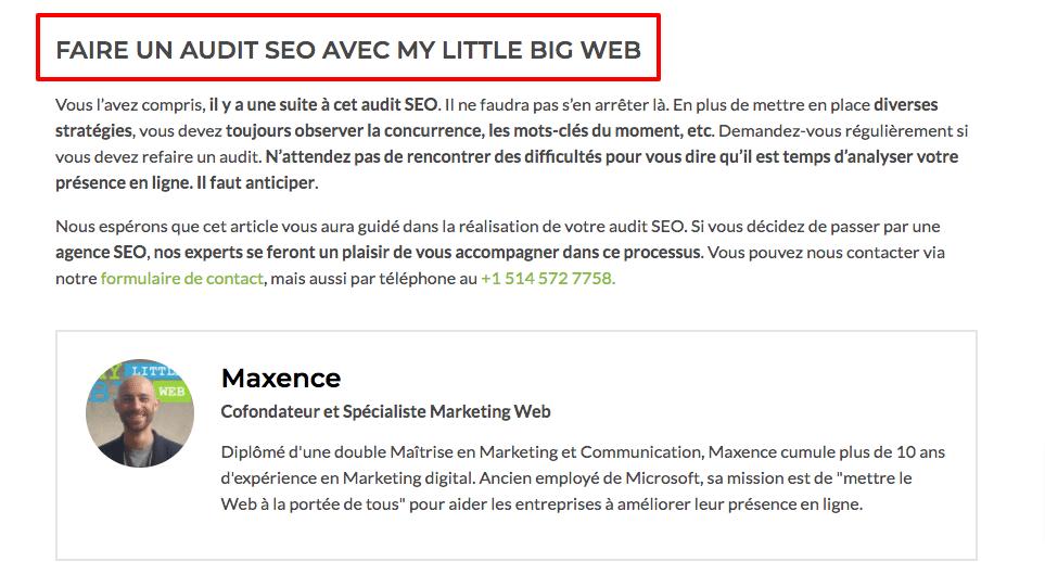 promotion commerciale contenu web