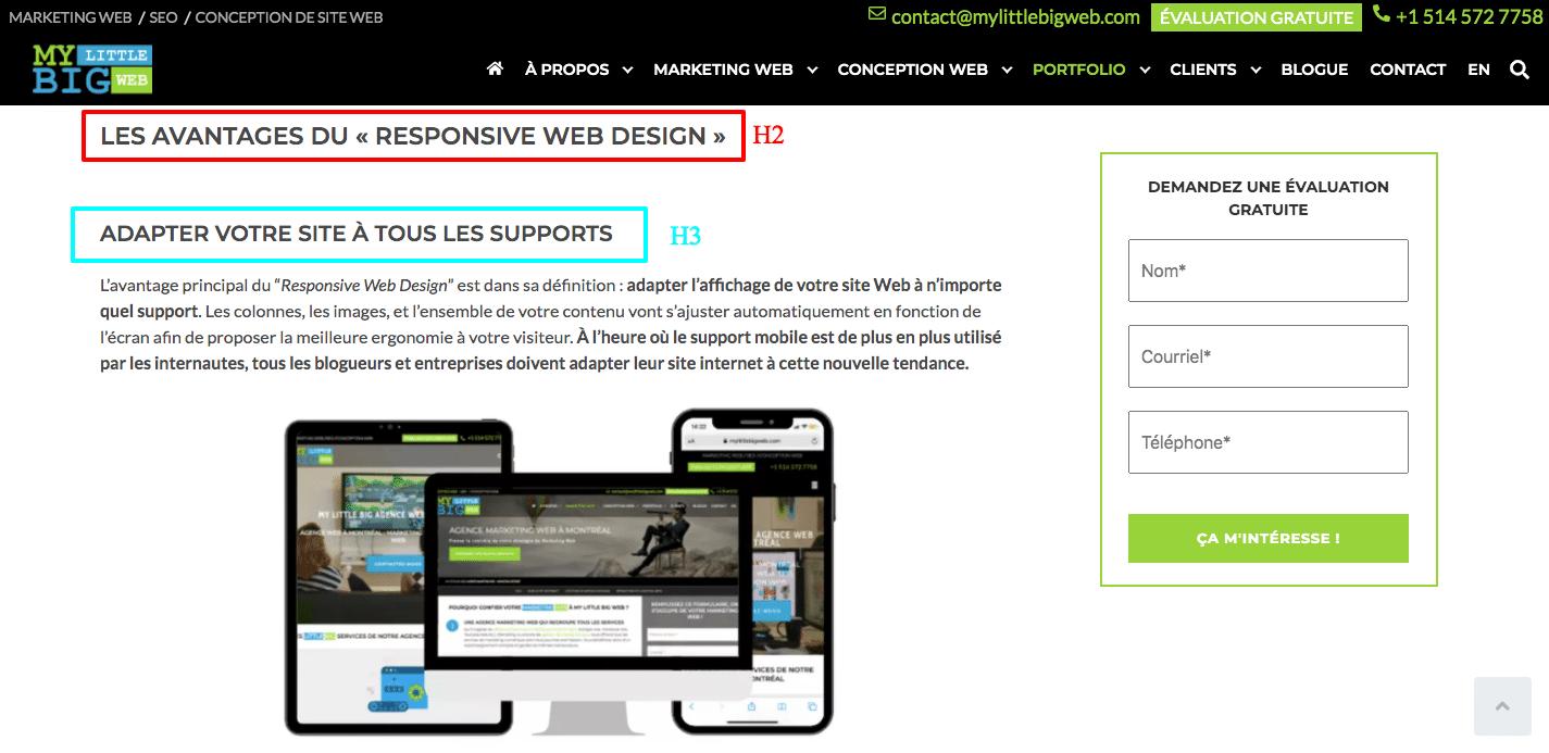 structurer contenu web