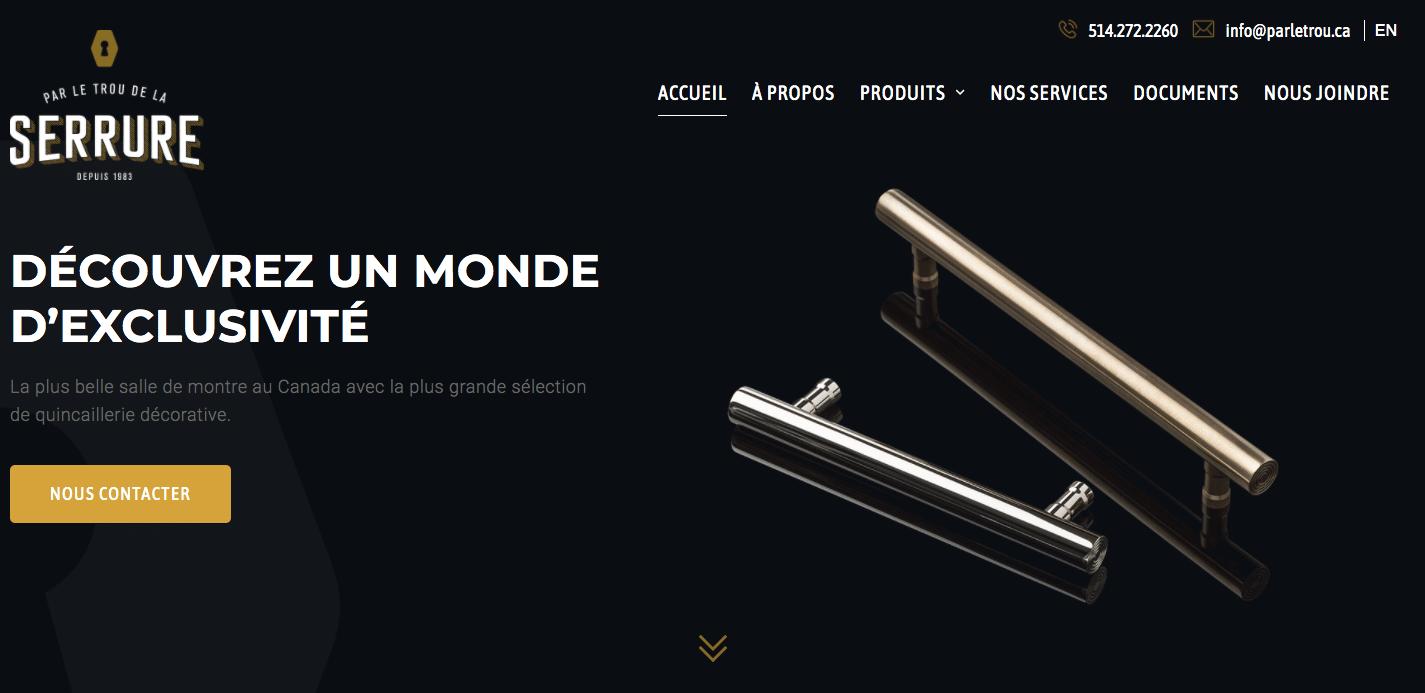 conception web minimaliste