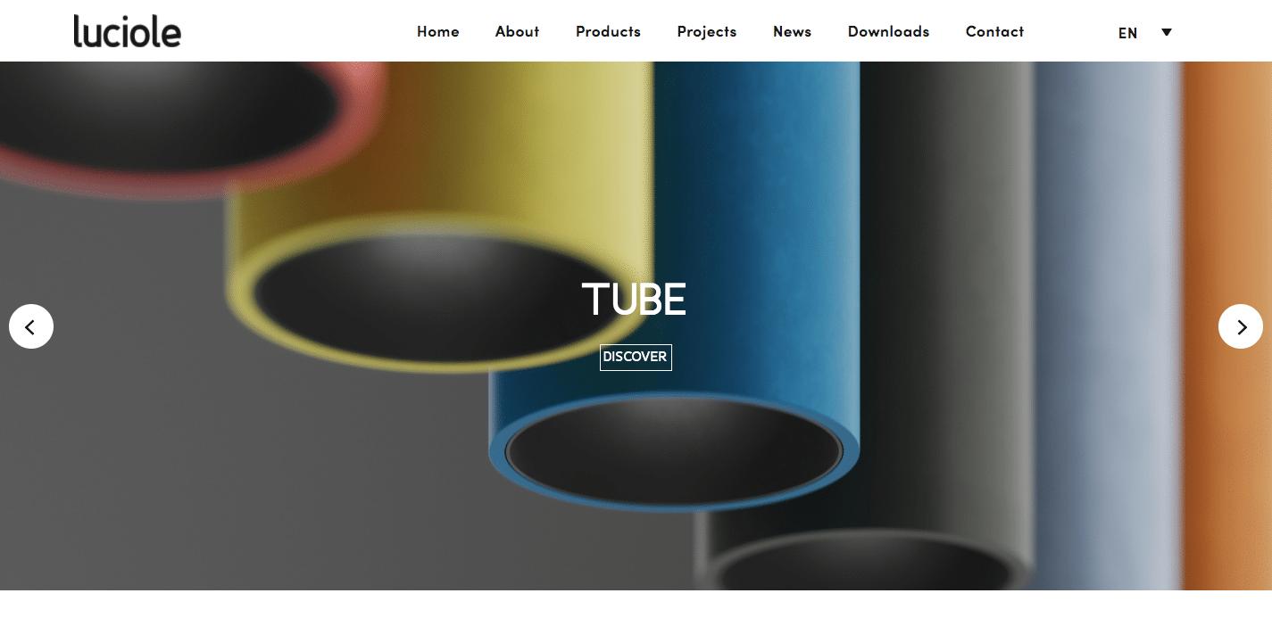 style minimaliste site web