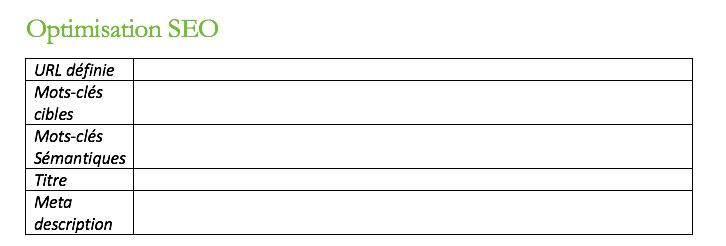 recherche mots clés pour rédaction d'article