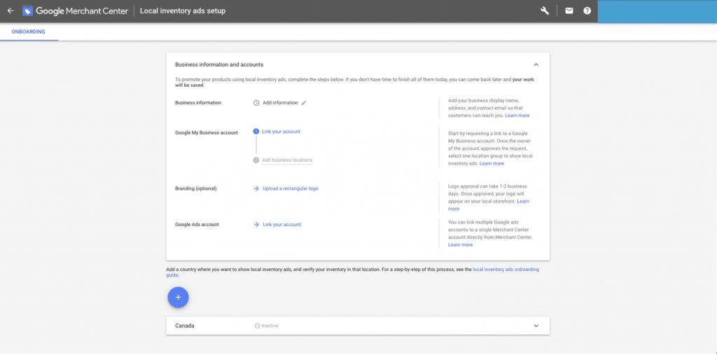 Relier son compte Google My Business à Merchant Center