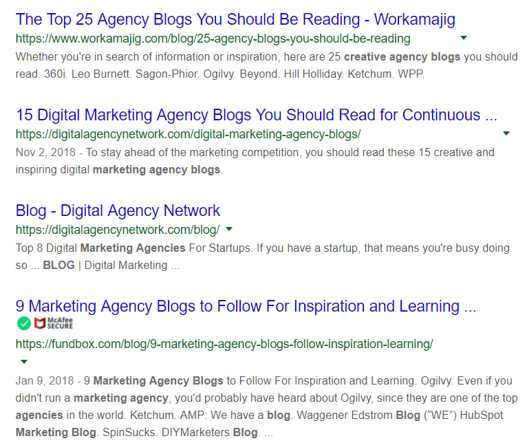 Agency Blog Content Search