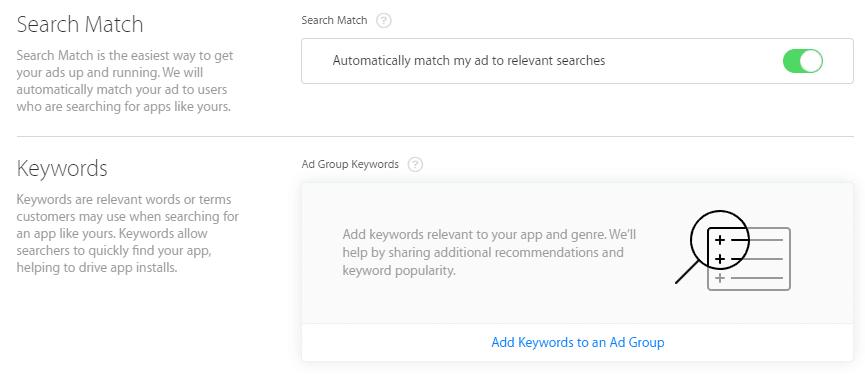 ajout-mots-cles-Apple-Search-Ads
