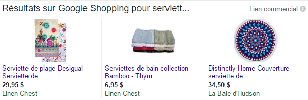 campagne-google-shopping-serviettes