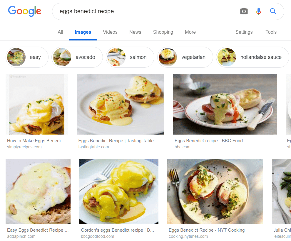 Google Images Eggs Benedict Search