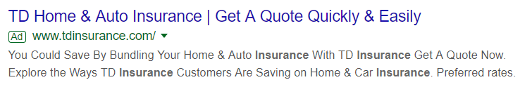 Google Ads Insurance Example
