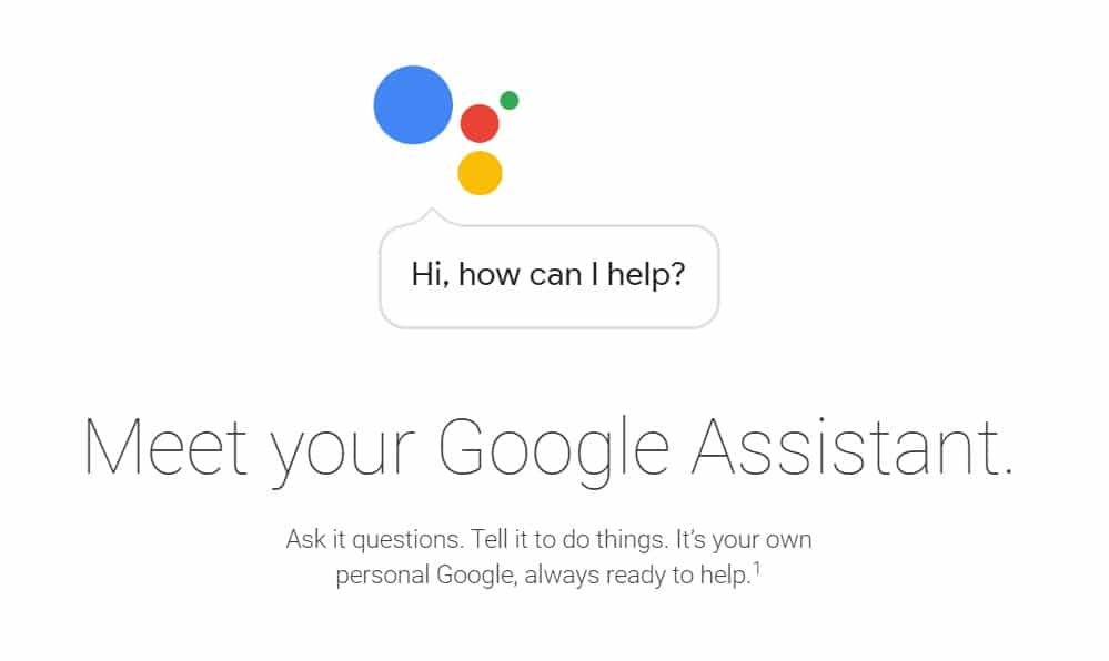 Google Assistant Search Intent