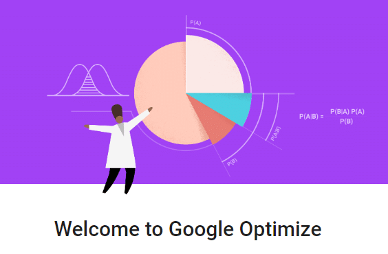 Google Optimize Welcome Page