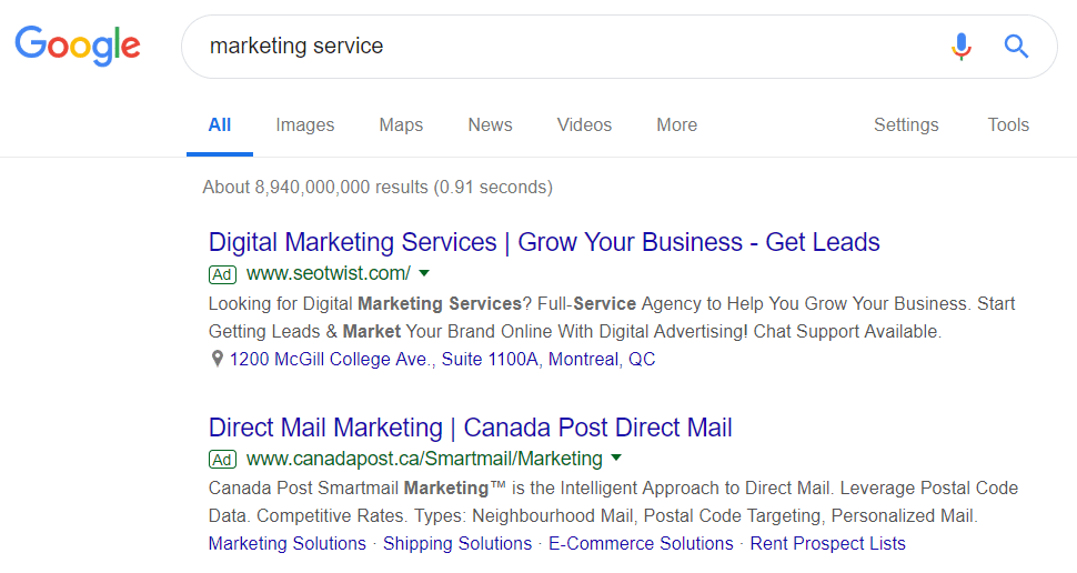Google Ads Marketing Service