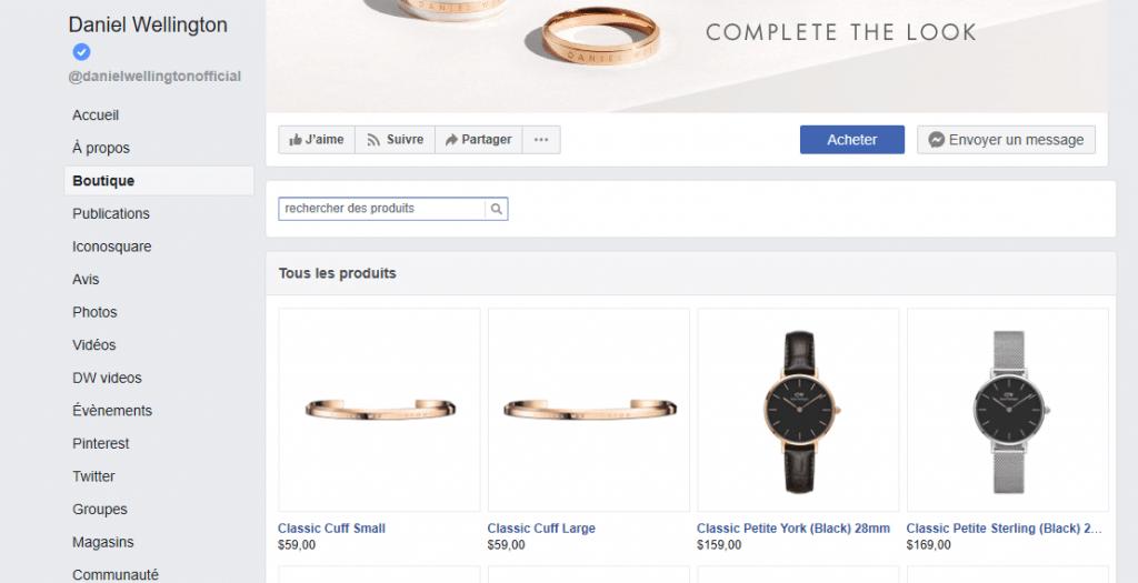 page-boutique-facebook-daniel-wellington