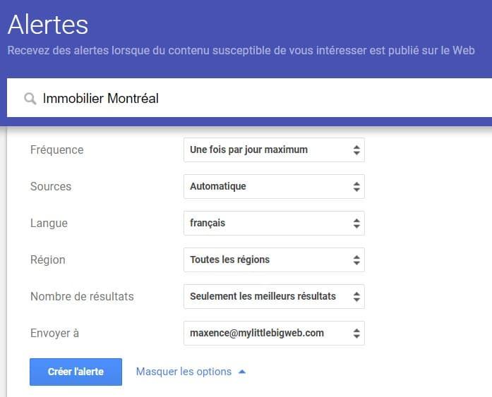 Paramétrage-google-alert
