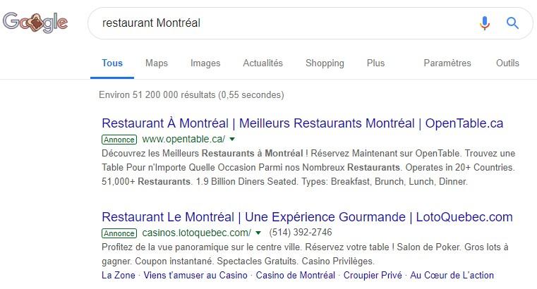 recherche-google-ads-restaurant-montreal
