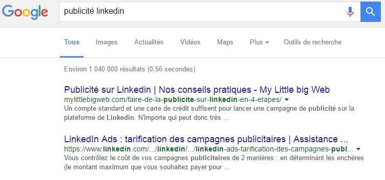 referencement-naturel-publicte-linkedin-sur-google
