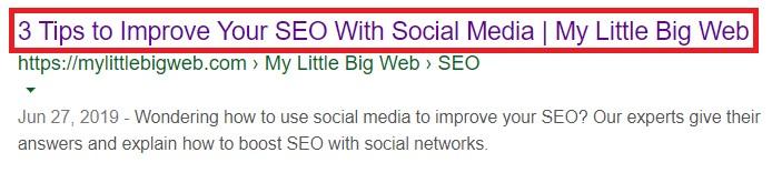 SEO Meta Title Tag Example