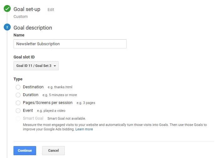 Set Up Google Analytics Goals