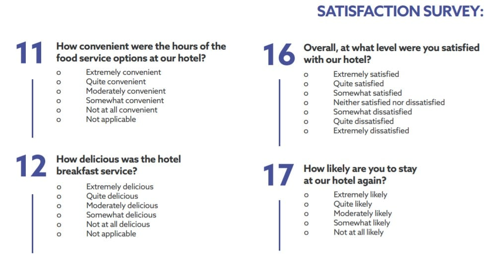 Business Survey Example
