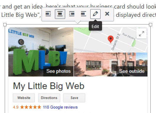 WordPress Image Edit Button