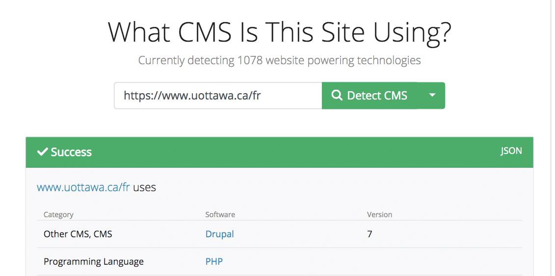 connaitre cms site web whatcms
